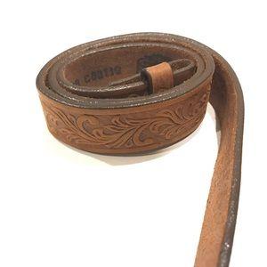 Tony Lama Belt Leather Size 28 Cowgirl Western